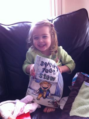 My Niece reading Stinky Feet Stew