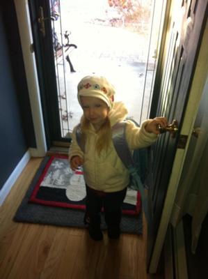 Giulianna's First Day of Pre school