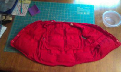 inside of weighted vest size 2