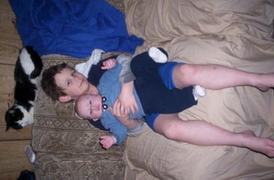 Kristian (5yrs old) Kayden (2months old )