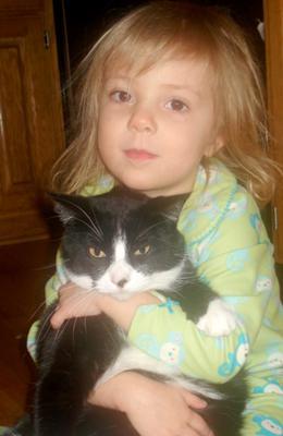 she LOVES her kitties